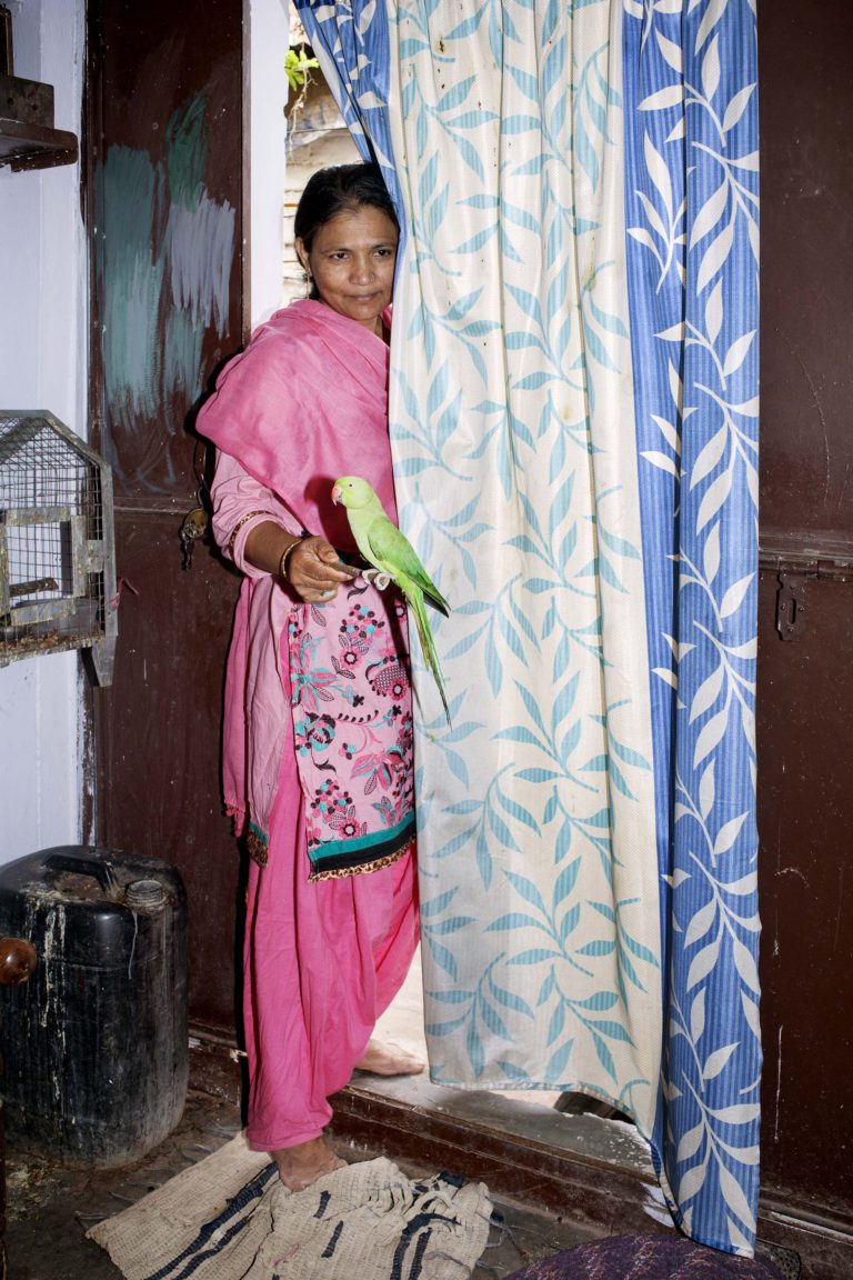 A gas-victim invited me into her home.