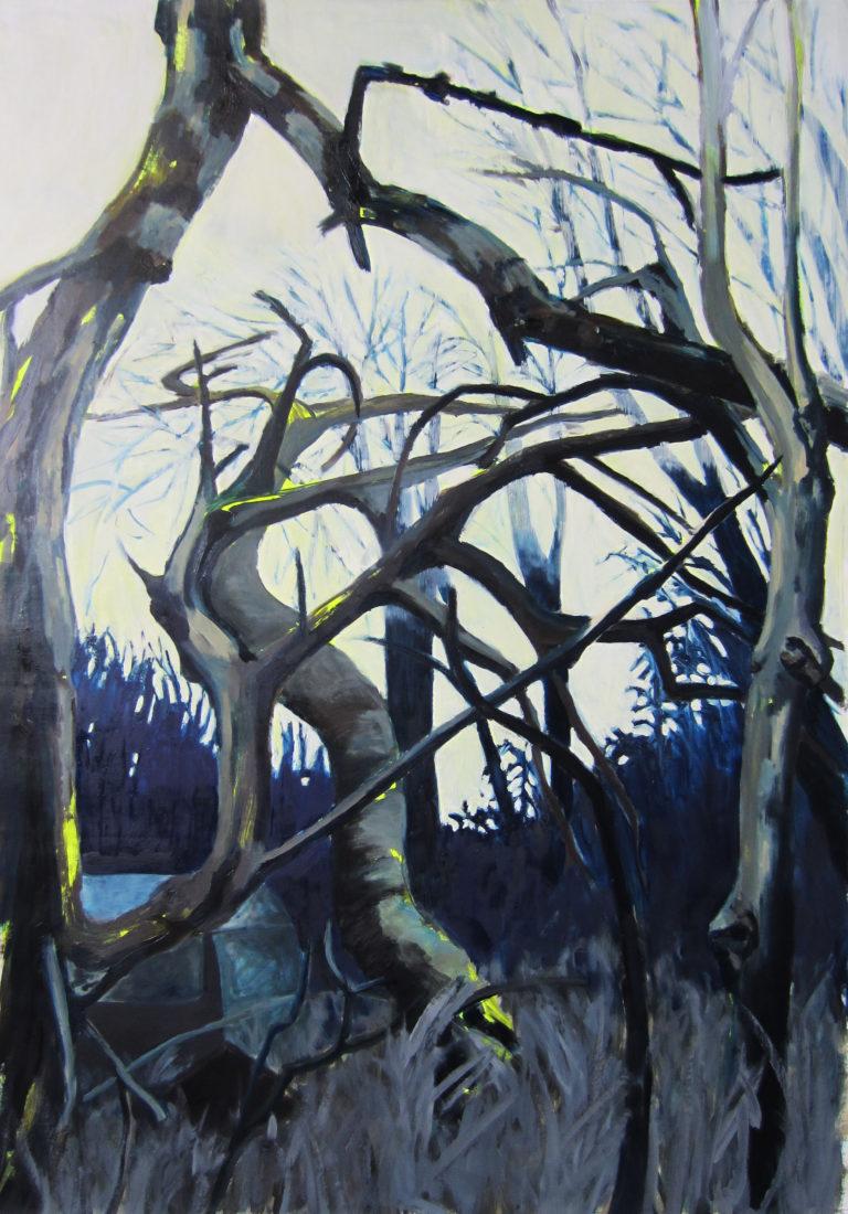 Oil and acryl on canvas, 105 x 150 cm