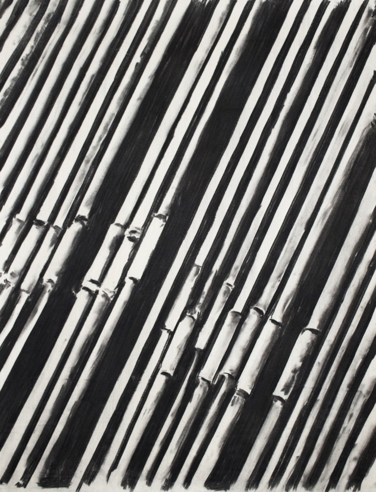Pipelines, Charcoal on paper, 75 X 100 cm, 2016