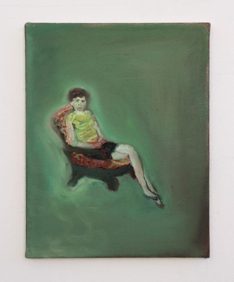 Paola Angelini,Deep Green,30 x 40 cm, Oil on linen, 2014