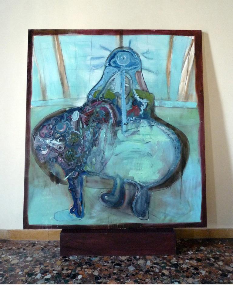 Paola Angelini and Bjarne Melgaard,Deposition,180 x 160 cm,Installation view, Baton Sinister,54 Venice Biennale, Norwegian Pavilion, Palazzo Contarini Corfù,2011