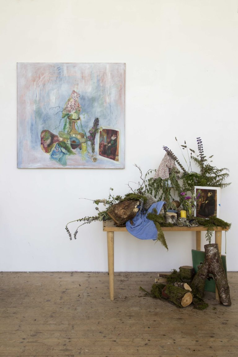 Paola Angelini, Installation view, End of residency exhibition Nordisk Kunstnarsenter Dale (NKD), Dale, Norway, 2014