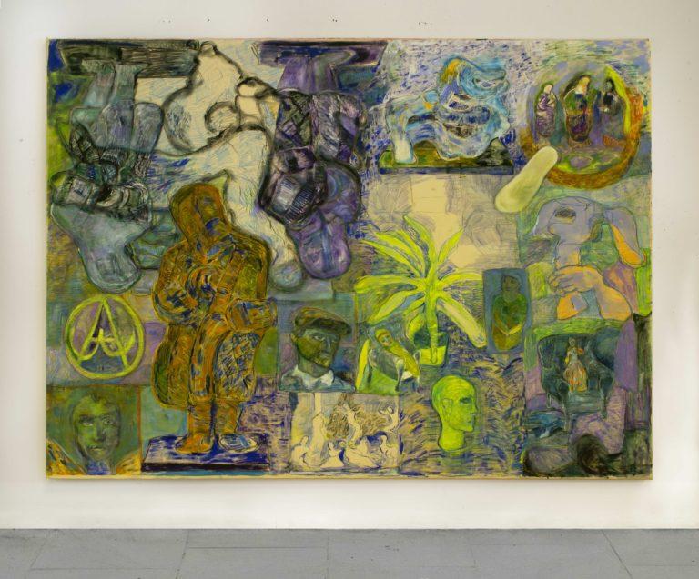 Paola Angelini, Giardino Mosaico III,200 x 270 cm, Oil on canvas, 2017