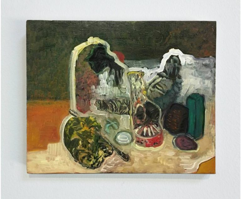 Paola Angelini,Still life in Orange #2,40 x 50 cm, Oil on linen, 2016