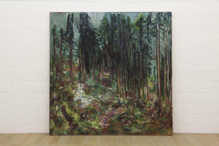 Paola Angelini,Landskapet,225 x 235 cm,Oil on linen, 2014