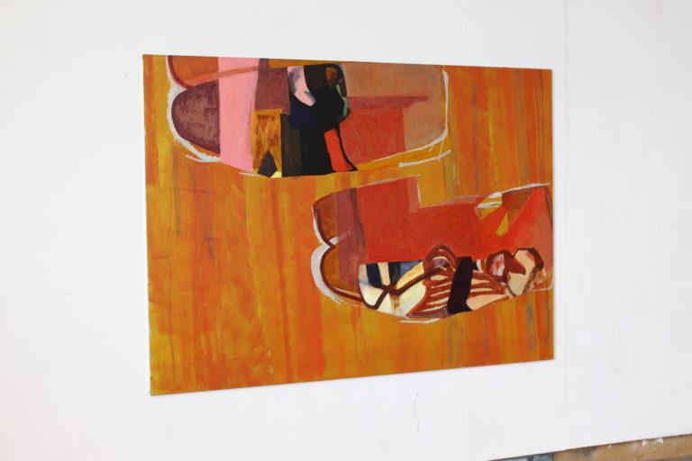 Haubi, Oil and Oil Stick on Aluminium, 150 x 210cm