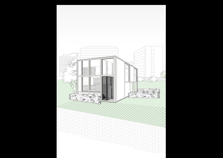 Buitenaanzicht unit 90 m²