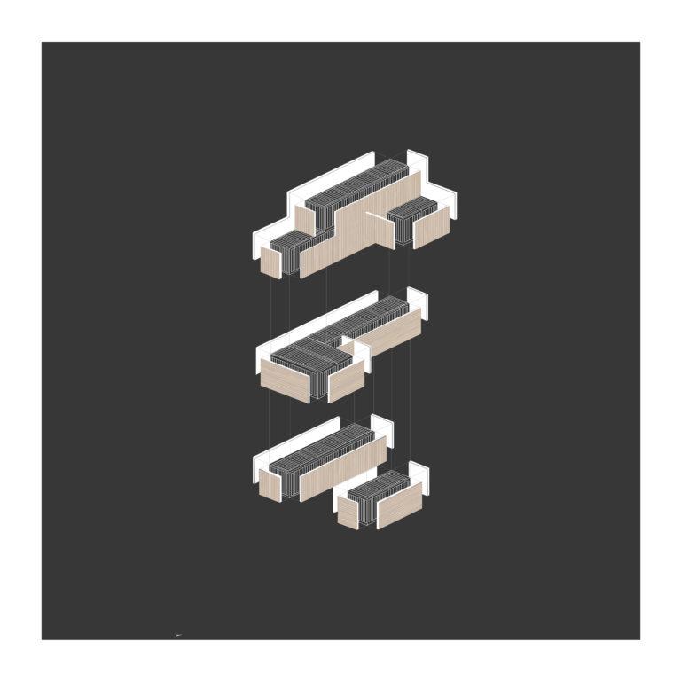 Isometrie samensetteling van de containers
