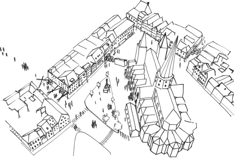 Concept tekening, Sint-Jacobs Gent