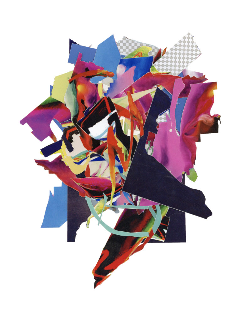 Collage, geprinte vinyl stickers, 25cm X 31cm