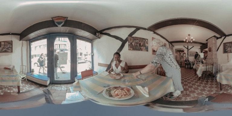 Still uit Lokaal 3, de interactieve VR-documentaire van Illias Teirlinck
