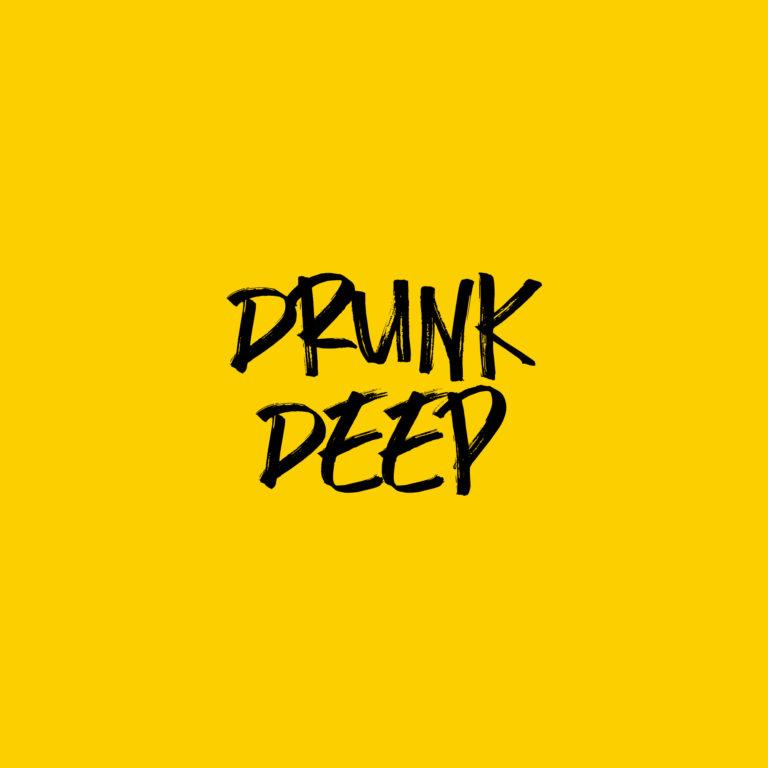drunk deep logo in text