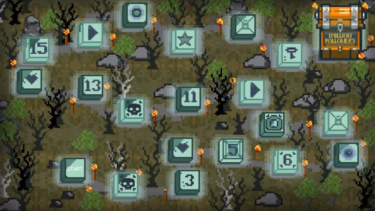 Bordspel ontworpen door Kibbi Pixel. Voor het eindwerk 'One million followers'