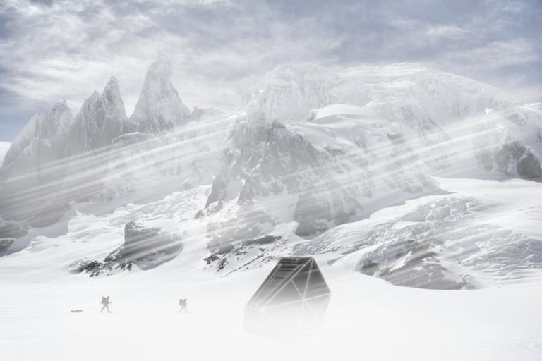 Berghut in relatie met zijn omgeving