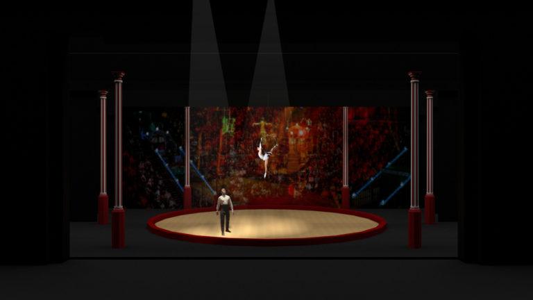 Intiem moment in het circus