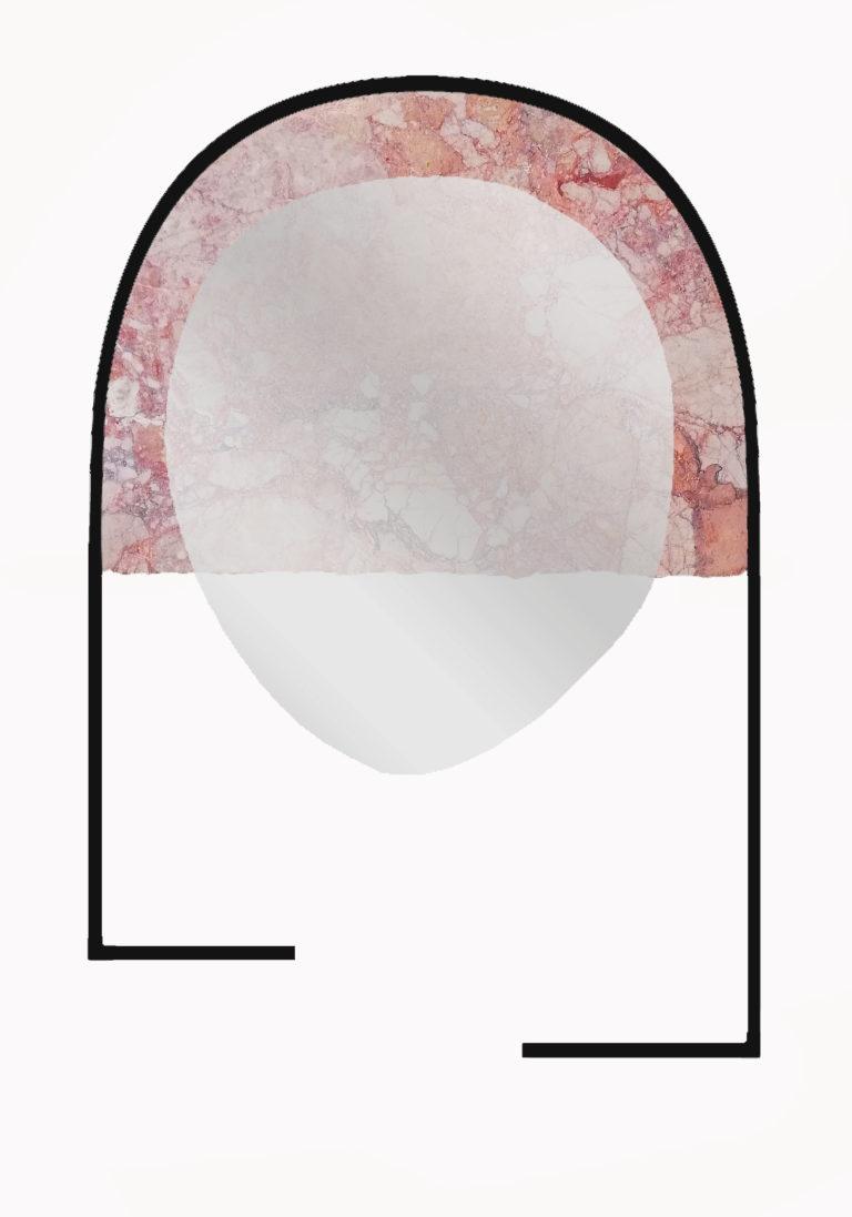 PRESENT pink mirror