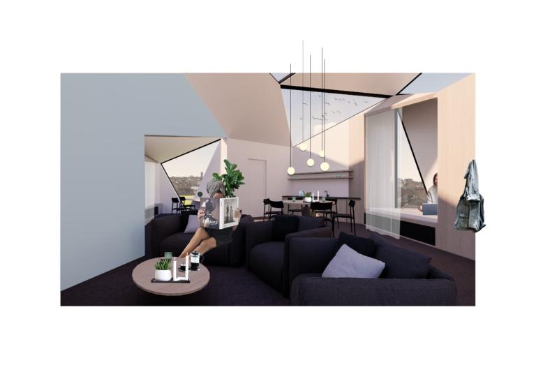 Micro-wonen: woning voor drie alleenstaanden   oppervlakte van 90m²
