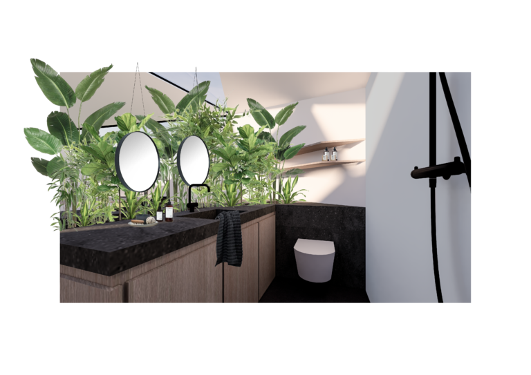 Micro-wonen: badkamer   oppervlakte van 30m²