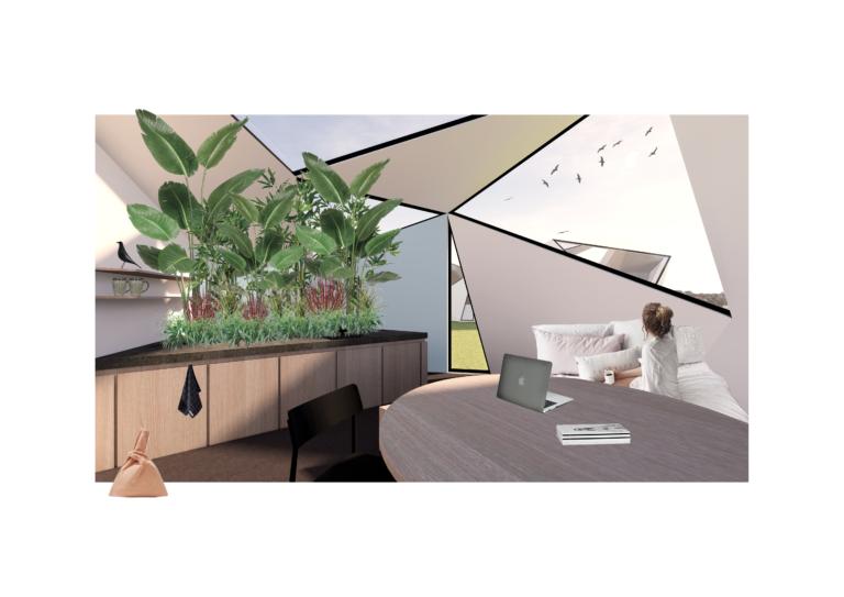 Micro-wonen: woning voor alleenstaande   oppervlakte van 90m²