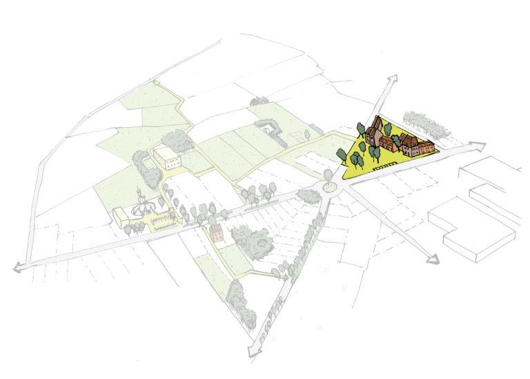 Pleinstructuur introduceren of opwaarderen om de plaatselijke economie en sociale dorpscohesie te versterken