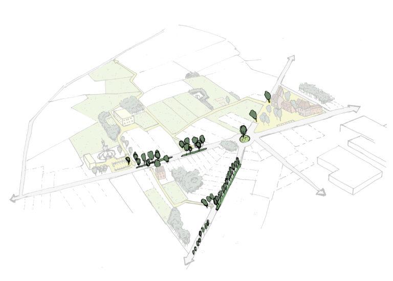 Stra(a)tegisch groen in de straten introduceren, om veilige verbinding over de weg te verzekeren