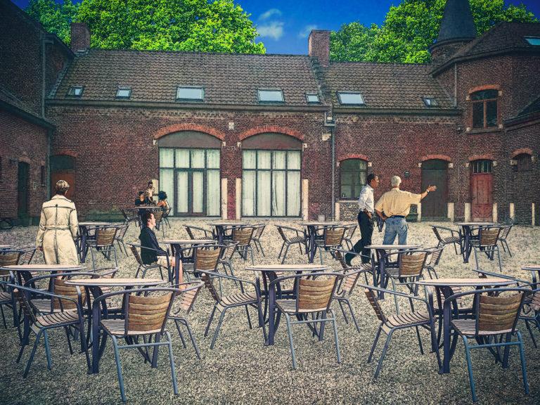 Kasteeldomein Wildenburg, terras brasserie, overdag