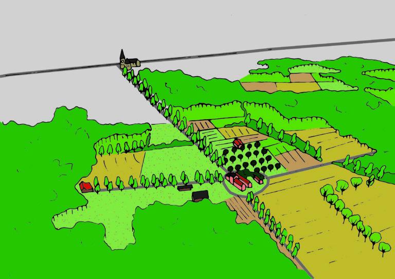 Een mogelijk toekomstbeeld voor de omgeving van Kasteel Berentrode te Bonheiden