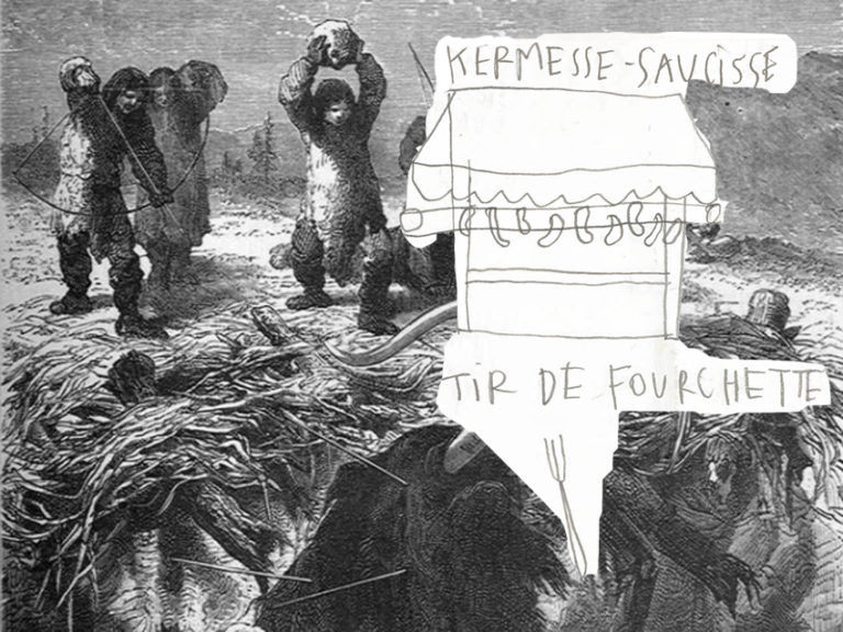 caption from book, kermesse-saucisse