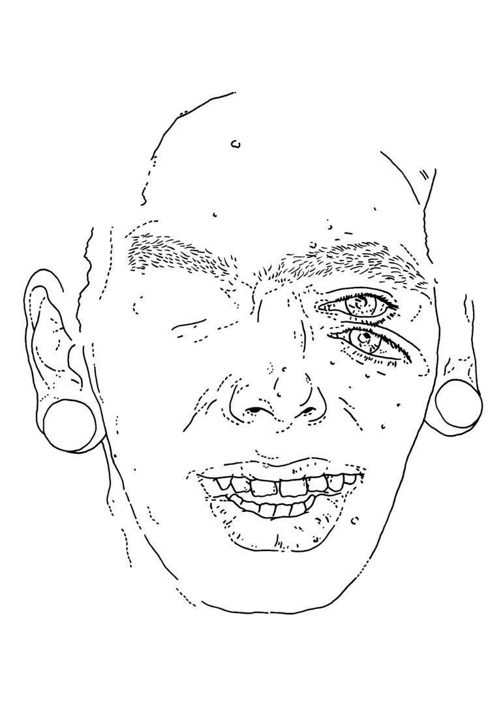 Composite self-portrait (JFK2)